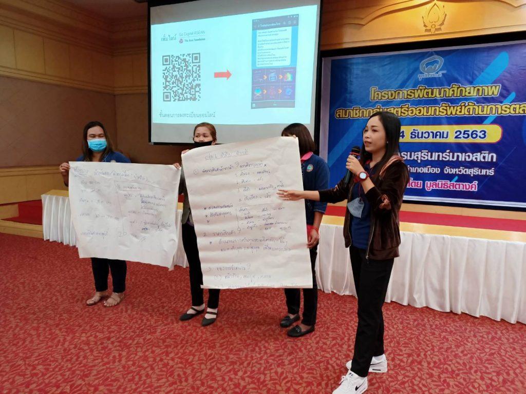 อบรมการตลาดออนไลน์กับมูลนิธิกองทุนไทย