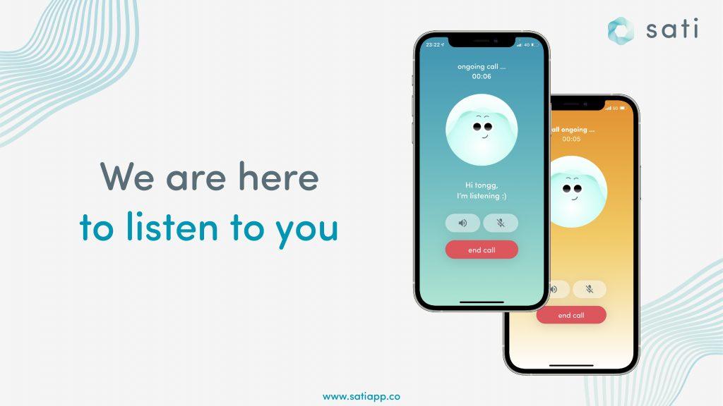 """เมื่อผู้ใช้กด """"talk"""" และเข้าสู่กระบวนการพูดคุยกับ Listener"""