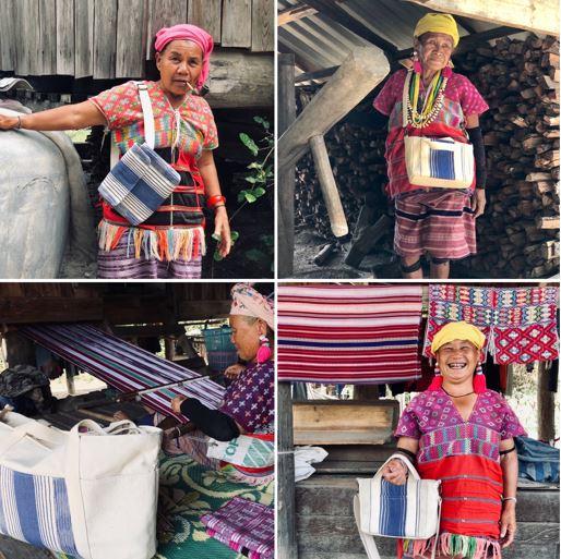 สินค้าที่ผลิตจากผ้าทอฝีมือของชาวบ้าน ความภูมิใจที่สามารถบอกต่อกับลูกหลานถึงคุณค่าของอาชีพหัตถกรรมได้
